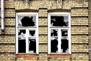 vandalism or break-in damage